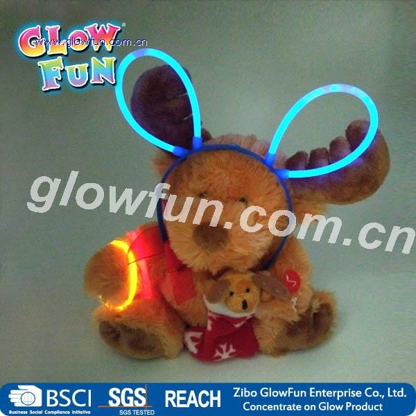 Glow Stick Head Wear, Glow Hairpin, Glow Bunny Ears for Party Novelty Toy