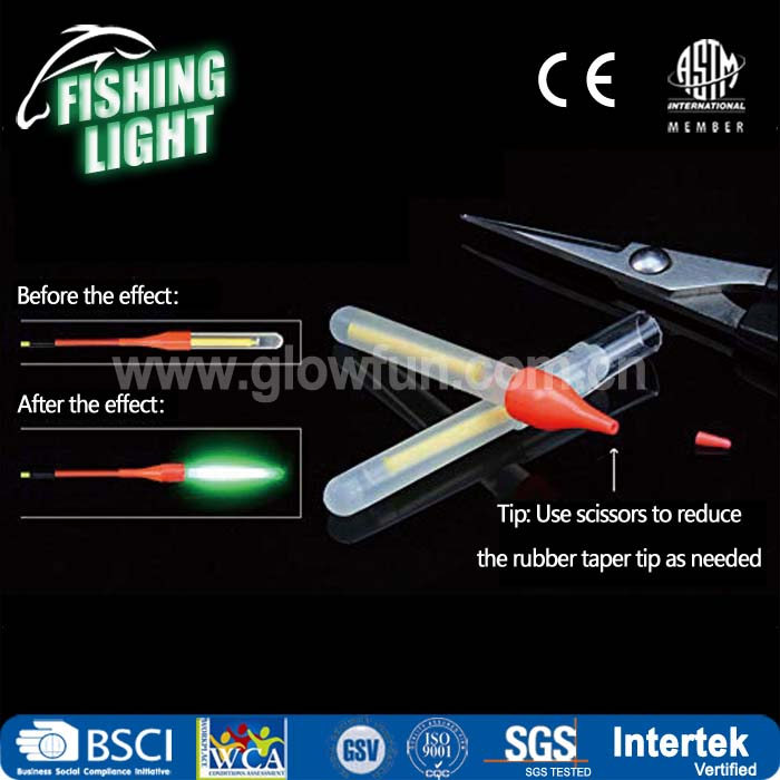 1.5 inch Powder Bulb Fishing Glow Stick,Light Stick