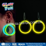 Glow Stick Hoop Earrings for Party Toy