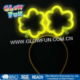 Flower Glow Stick Headwear, Glow Shemrock Shaped Hairpin