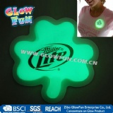 Clover Glow Badge with Logo/leaves Glow